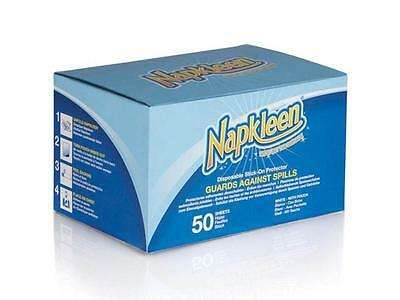 Napkleen Disposable Clothing Protectors/Bibs - Self Adhesive (Pack of 50)