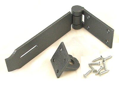 """Heavy Duty Cast Iron 140mm (5-1/2"""")  Hasp and Staple Security Garage Shed  NEW"""