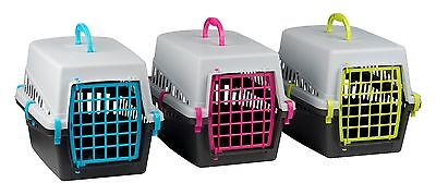 Pet Cat Kitten Small Dog Rabbit Carrier Kennel Folding Travel Transport Cage Vet