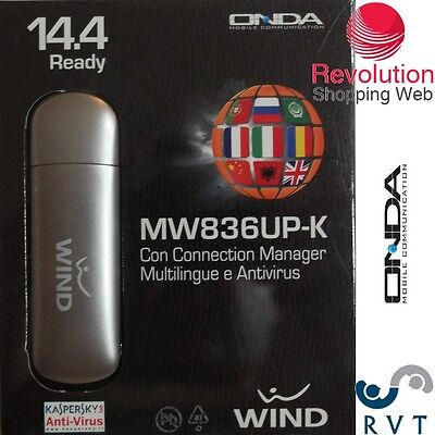 INTERNET KEY ONDA WIND 14.4 MBPS MW836UP-K  sbloccato  per tim 3 vodafone wind