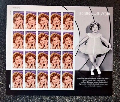 2016USA #5060 Forever Shirley Temple - Legends of Hollywood - Sheet of 20  mint