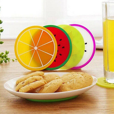 Cute Silicone Fruit Heat Insulation Coffee Cup Mat Coaster Tableware Placemat