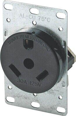 Travel Trailer 30a Receptacle,No 1263-BOX,  Cooper Wiring Devices Inc