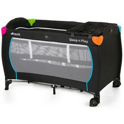 Hauck Child/Baby Sleep N Play Centre Travel Sleeping Cot - Multicolour Black
