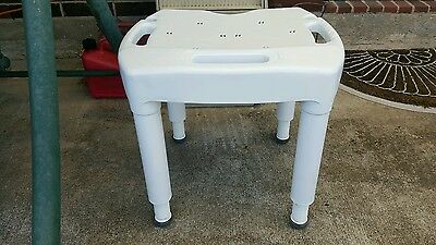 PICK UP IN HOUSTON Carex Sturdy Shower Bath Chair Bench Stool- Adjustible Height