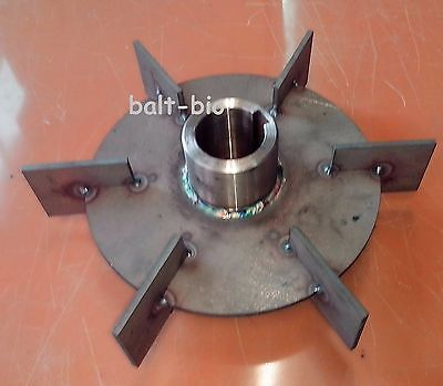 NEW STAINLESS STEEL MIXING AGITATOR IMPELLER RUSTON STYLE  BLADES 250mm 9.84''