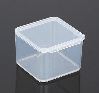 New Small Travel Clear CG Transparent Storage Box Case PU Superhard Plastic