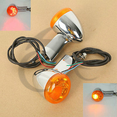 New Rear Turn Signal LED Indicator Lights For Harley XL 883 1200 Sportster 92-16
