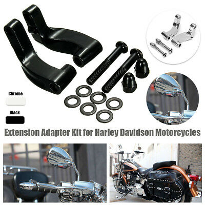 Black Mirror Relocation Extension Adapter for Harley Davidson Motorcycle US