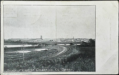 General View of Coleraine Postcard Northern Ireland Co Derry Londonderry 1919