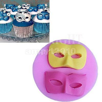3D Silicone Mask Soap Mold Cake Icing Decoration Fondant Cake Pastry Mould