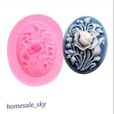 Rose Silicone Flower Soap Mold Cake Icing Decor Fondant Pastry Cake Mould