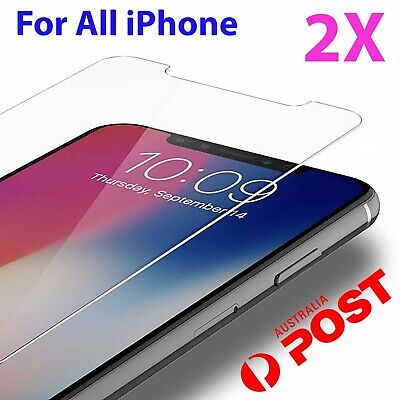 2x Tempered Glass Screen Protector iPhone 6s 11 PRO Max XR X XS 7 6 plus 8 4 kkt