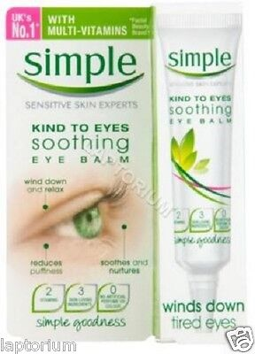 100% Genuine Simple Kind To Eyes Soothing Eye Balm Feel Healthier 15ml