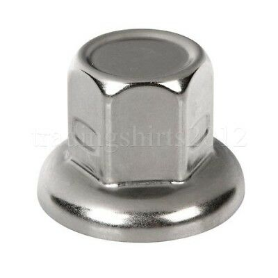 60pcs WHEEL NUT COVER STAINLESS STEEL CAPS BOLT 32mm LORRY TRAILER TRUCK HGV