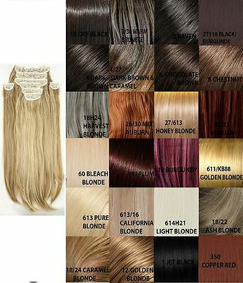 New Womens Straight Clip In 8 Piece Set Weft Hair Extensions Koko Uk Stock