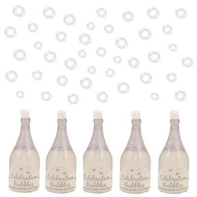 1 12 24 48 72 96 White Champagne Bottle Wedding Bubbles & Wand Table Decoration