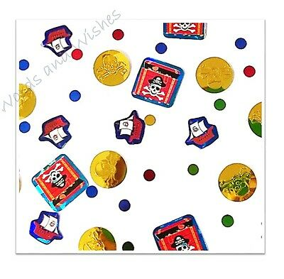 Birthday Party Table Scatter Confetti Sprinkles Pirate Ship Treasure Chest Coins
