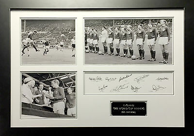 England 1966 World Cup Photos with Signatures