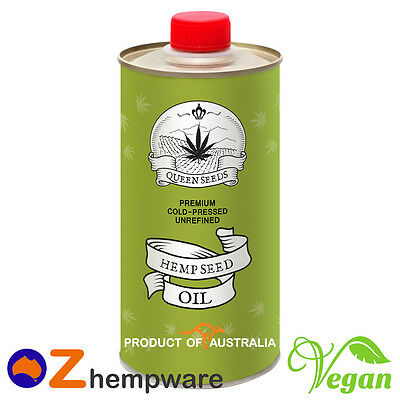 Hemp Seed Oil Cold-Pressed Unrefined Premium Australian Grown 0.25/0.5/1L/2L