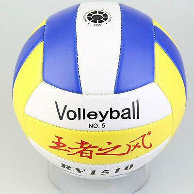 Hot Good Student Volleyball Faux Leather Match Training Ball Thickened Size5 NSS