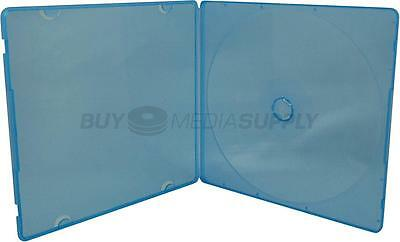 5mm Slimline Blue Color 1 Disc CD/DVD PP Poly Case - 100 Pack