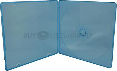5mm Slimline Blue Color 1 Disc CD/DVD PP Poly Case - 400 Pack