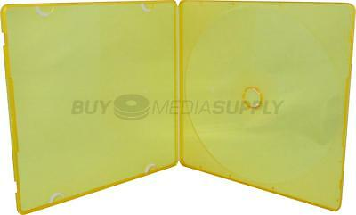 5mm Slimline Orange Color 1 Disc CD/DVD PP Poly Case - 600 Pack