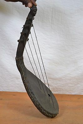 Zande Tribe African Harp from Congo