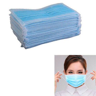 50 Pcs Ear Loop Disposable New Mouth Dental Medical Masks Dust Face Surgical