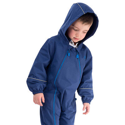 NEW Target Dry Indigo Waterproof Hooded Puddle Suit Sizes 2 - 8 Years