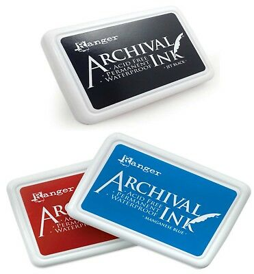 Ranger Archival Ink Pads Waterproof Permanent Ink Pad Acid Free Stamp Pads!
