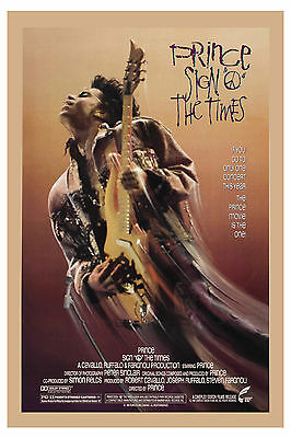 "1980's Rock: Prince in "" Sign of the Times "" USA Poster 1987"