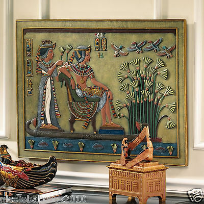 ANCIENT EGYPTIAN 4th-century papyrus PAYING HOMAGE TO KING TUT sculptural freize • CAD $202.25