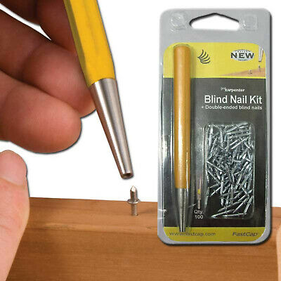 FastCap BLINDNAILKIT Double-ended 3/16inch x 3/8-inch Blind Nail Kit, 100 Nails