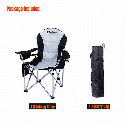 KingCamp Heavy Duty Portable Folding Camping Chair  Cooler for Big Guy OX Arm