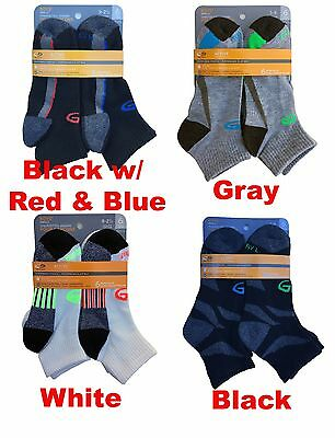 C9 By Champion Boys' Ankle Socks 6-Pack DUO DRY & PREFORMANCE STRETCH