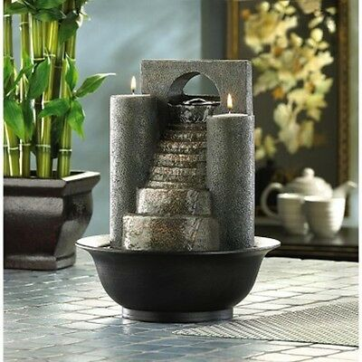 Fire and Water Tabletop Fountain w Pump