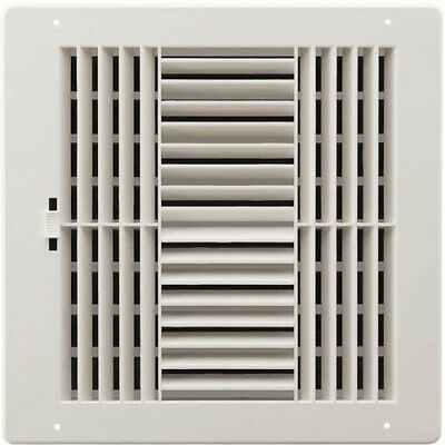 Register,4-Way 6x6 Wht Plast by American Metal Products
