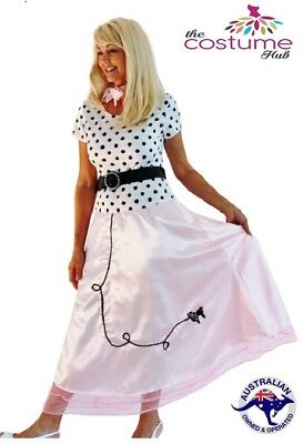 Size 8 - 18 Rock N Roll 50s Polka Dot Poodle Swing Skirt Grease Rockabilly