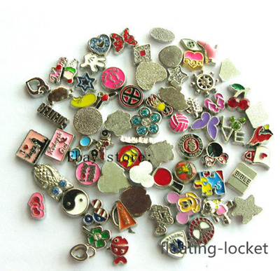 100pcs Mix style Floating charms For Glass Memory Locket Free shipping