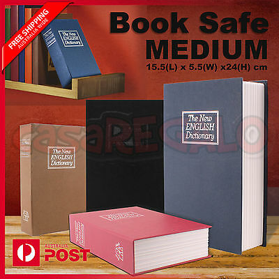 Dictionary Medium Book Safe Box Secret Security Cash Money Jewellery Locker
