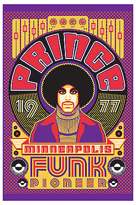 Tribute:  Prince * Pioneer of Funk * Minneapolis  Tribute Poster