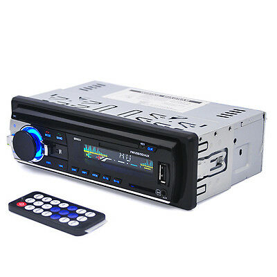 12V Bluetooth Car Stereo FM Radio MP3 Audio Player Electronics Subwoofer In-Dash