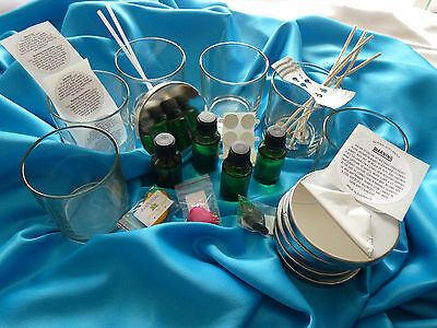 Candle making 6 Clear Large Jars Kit, JUG & all you need READ description please