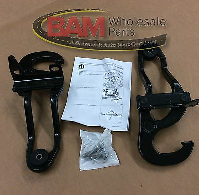 Front Tow Hooks Fit for Dodge Ram 1500 2009-2017 Replace OEM 82210967 68196982AA