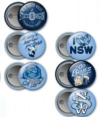 New South Wales State of Origin Button Badges 6 Per Packet