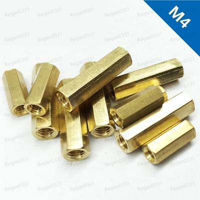 M4 Female Brass Hex Column Standoff Support Spacer Pillar For PCB Board