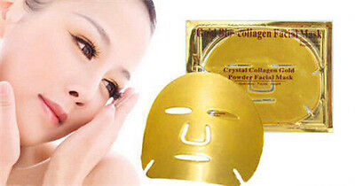 GOLD Premium Collagen Bio Crystal Face Masks Eye Anti Ageing Skin Care Moisture