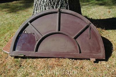 Antique Vintage Arch Half Moon Tilt-in 5-Lite Window 58.5 x 32.5